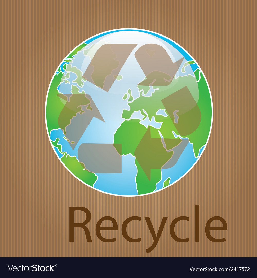 Earth planet and nature icons vector | Price: 1 Credit (USD $1)