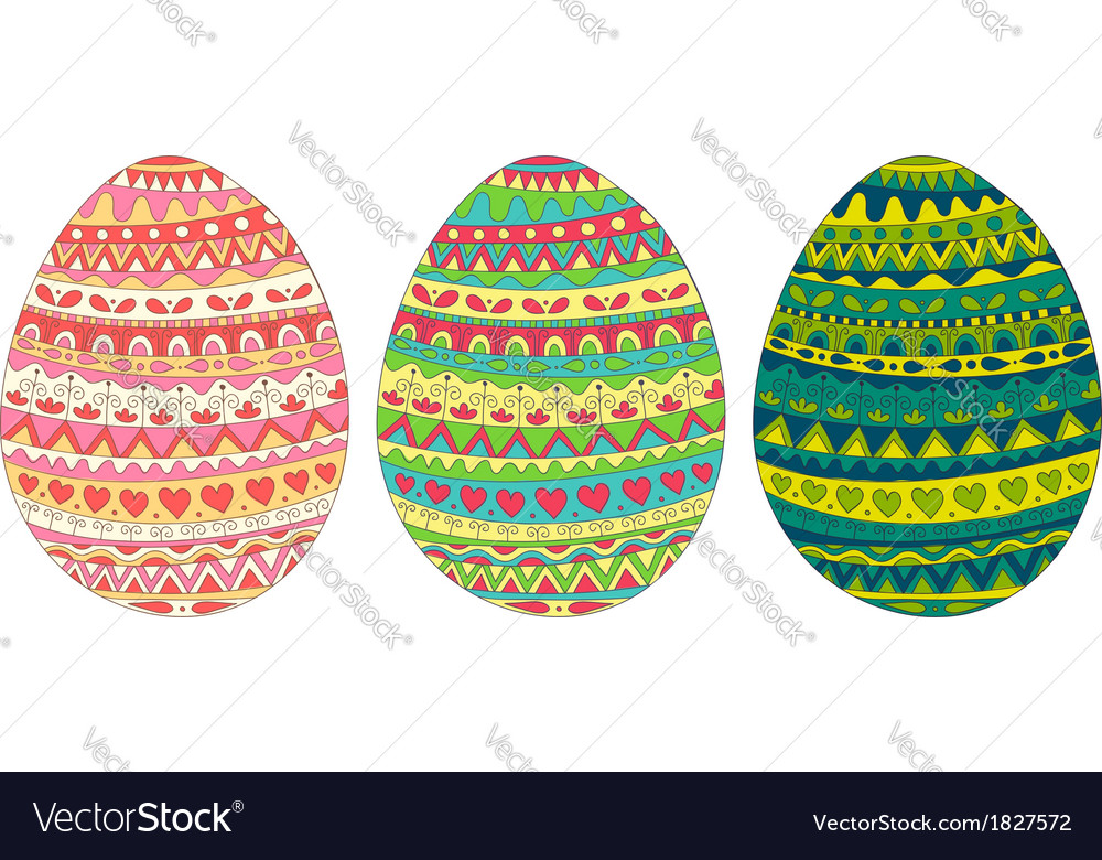 Easter egg card colors vector | Price: 1 Credit (USD $1)