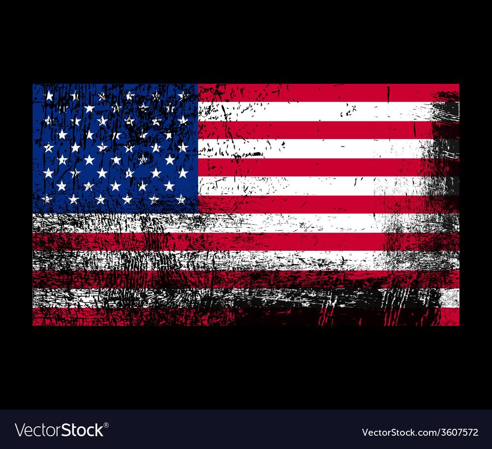 Grunge flag of america vector | Price: 1 Credit (USD $1)