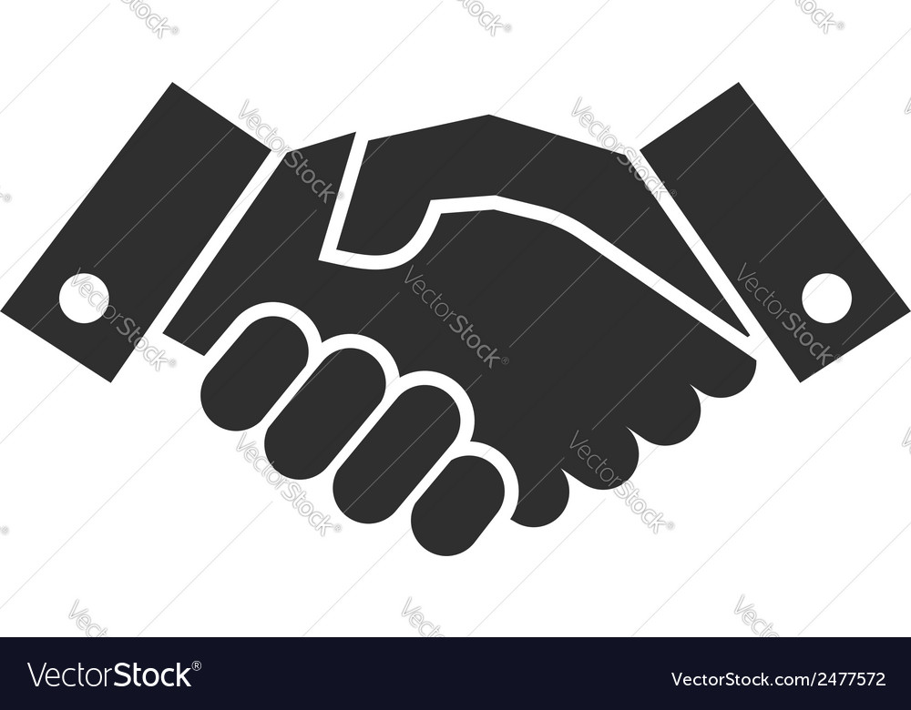 Handshake icon vector | Price: 1 Credit (USD $1)