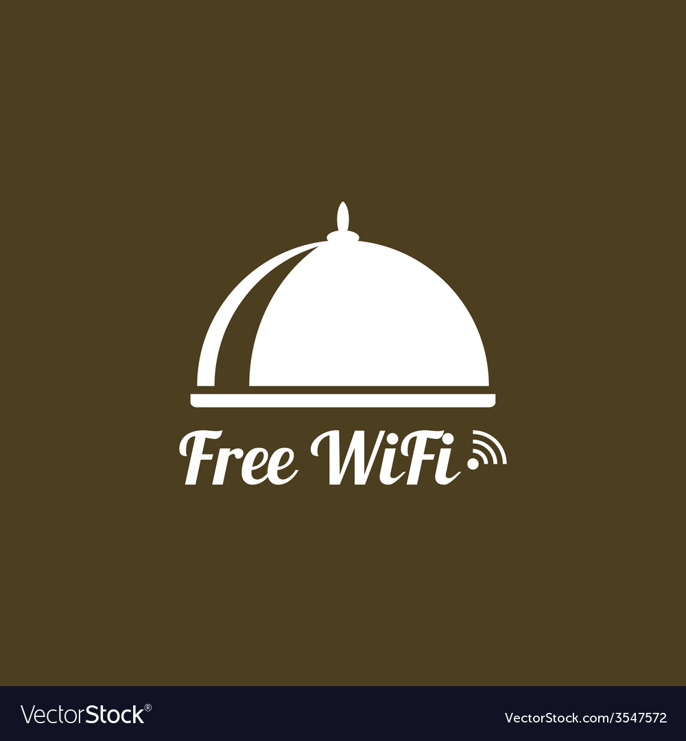 Internet cafes wireless free connection vector | Price: 1 Credit (USD $1)