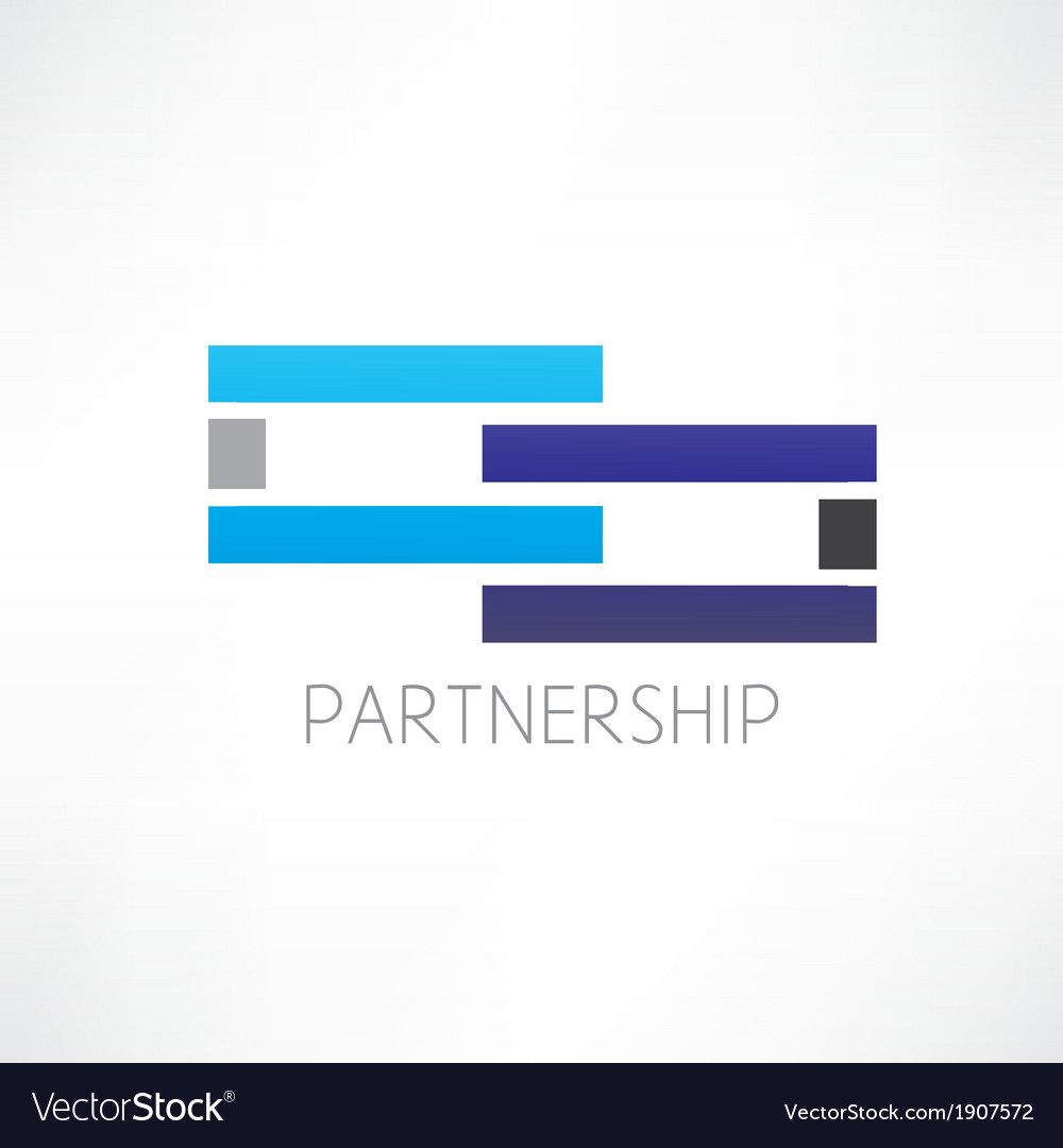 Partnership abstraction icon vector | Price: 1 Credit (USD $1)