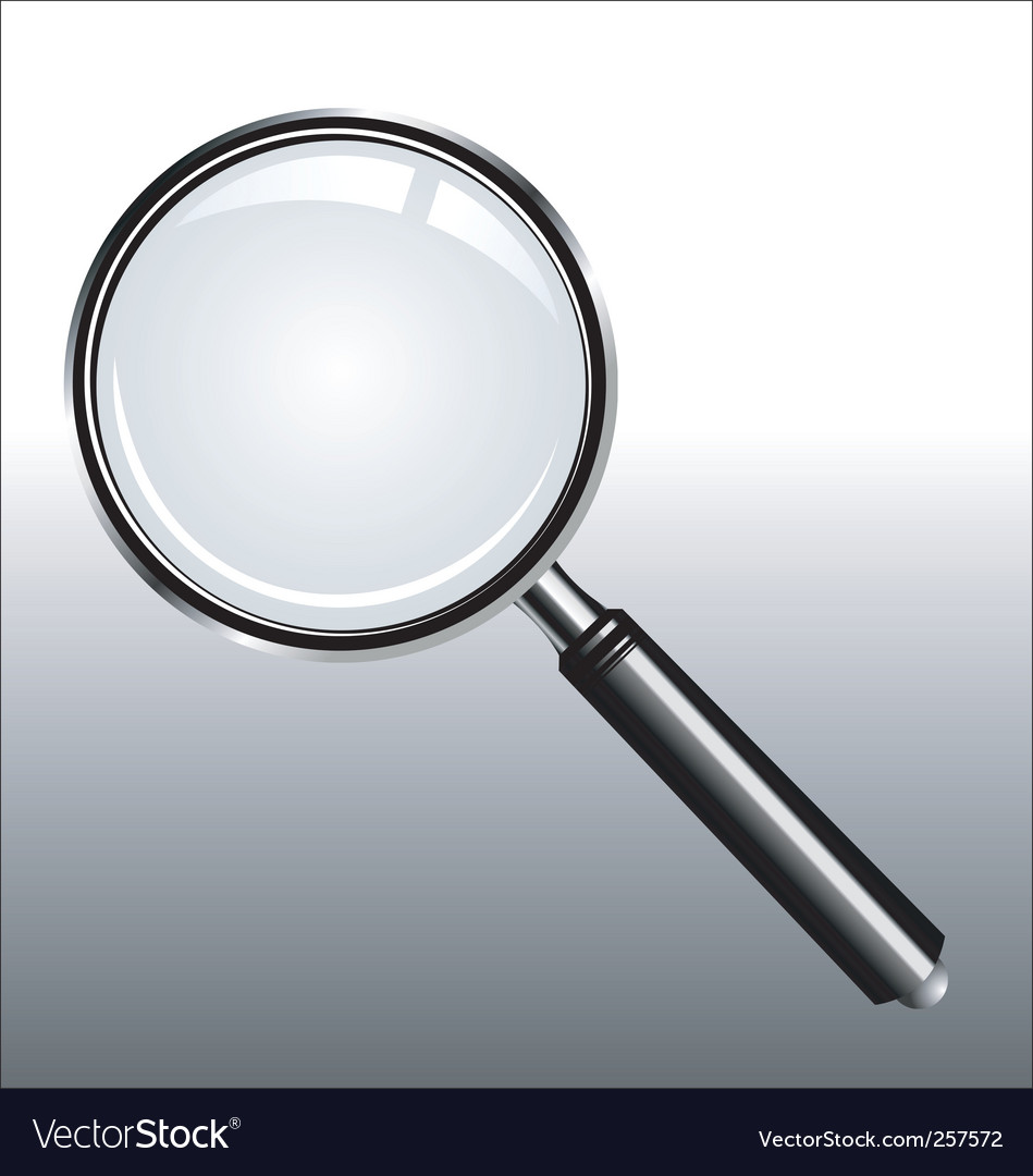 Realistic magnifying vector | Price: 1 Credit (USD $1)