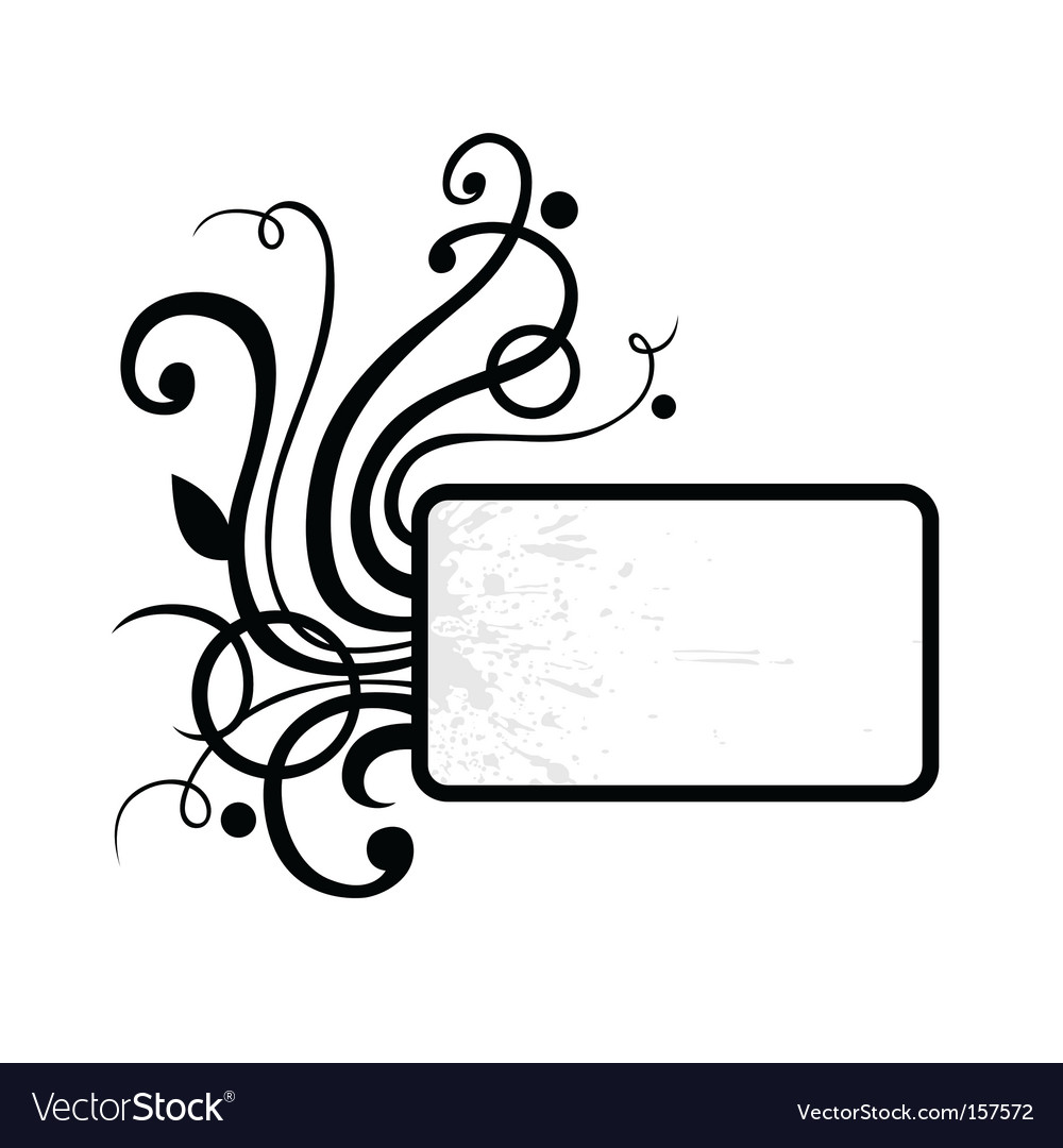 Ringlet flourish vignette vector | Price: 1 Credit (USD $1)