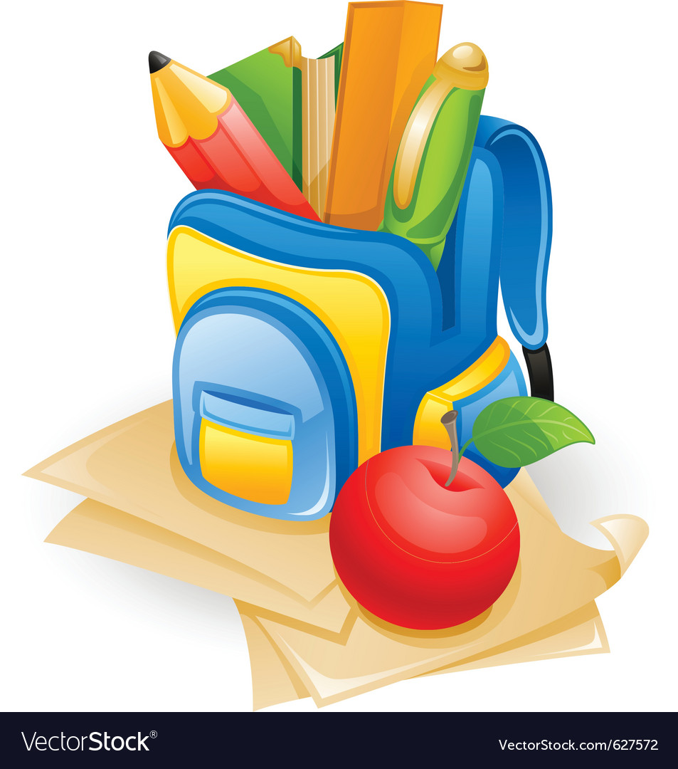 School bag vector | Price: 1 Credit (USD $1)