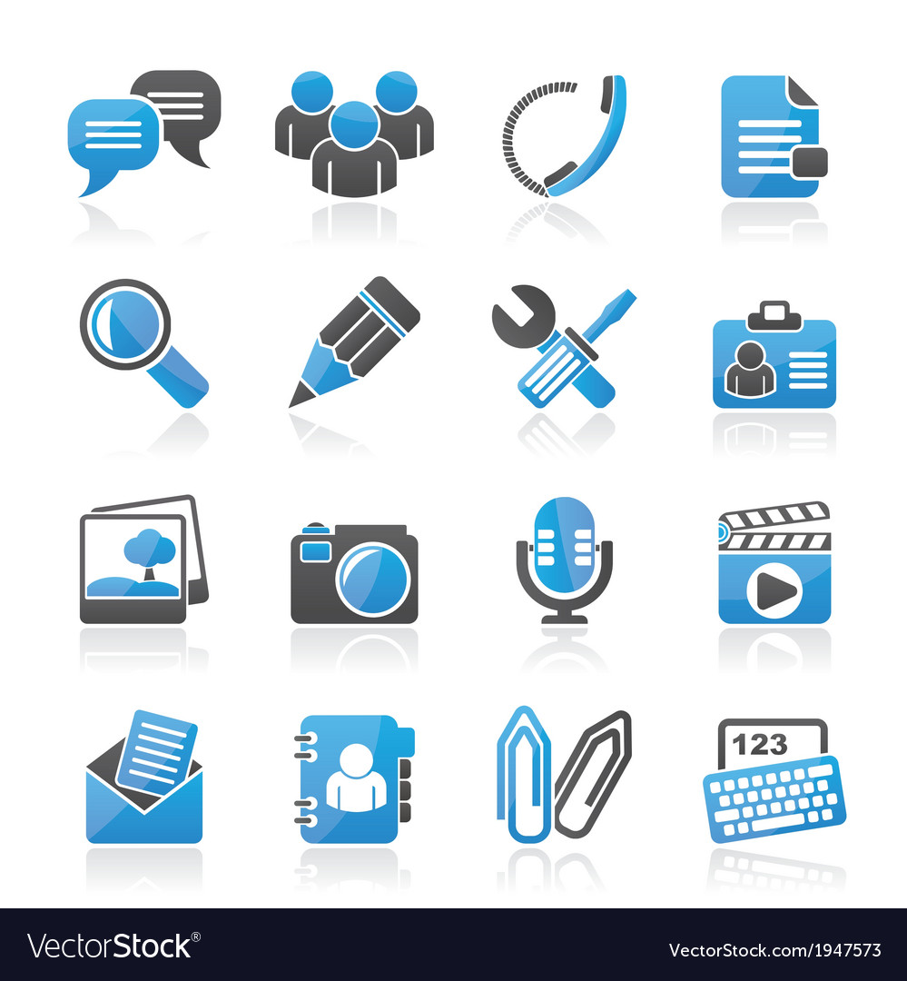 Chat application and communication icons vector | Price: 1 Credit (USD $1)