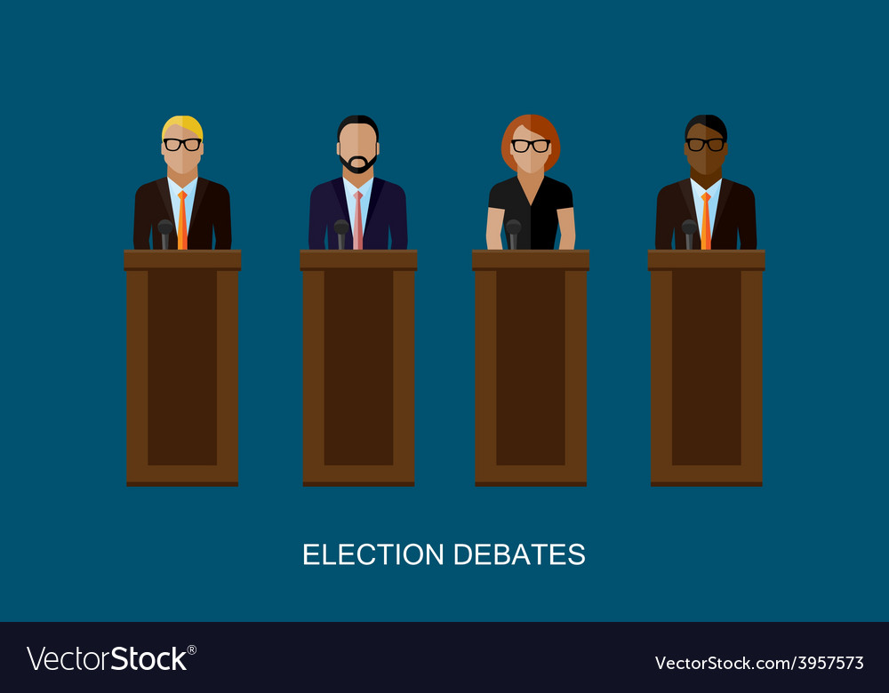 Flat of a speakers politicians vector | Price: 1 Credit (USD $1)