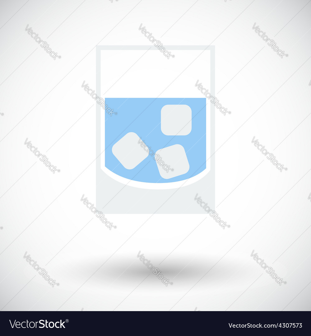 Glass whit ice vector | Price: 1 Credit (USD $1)