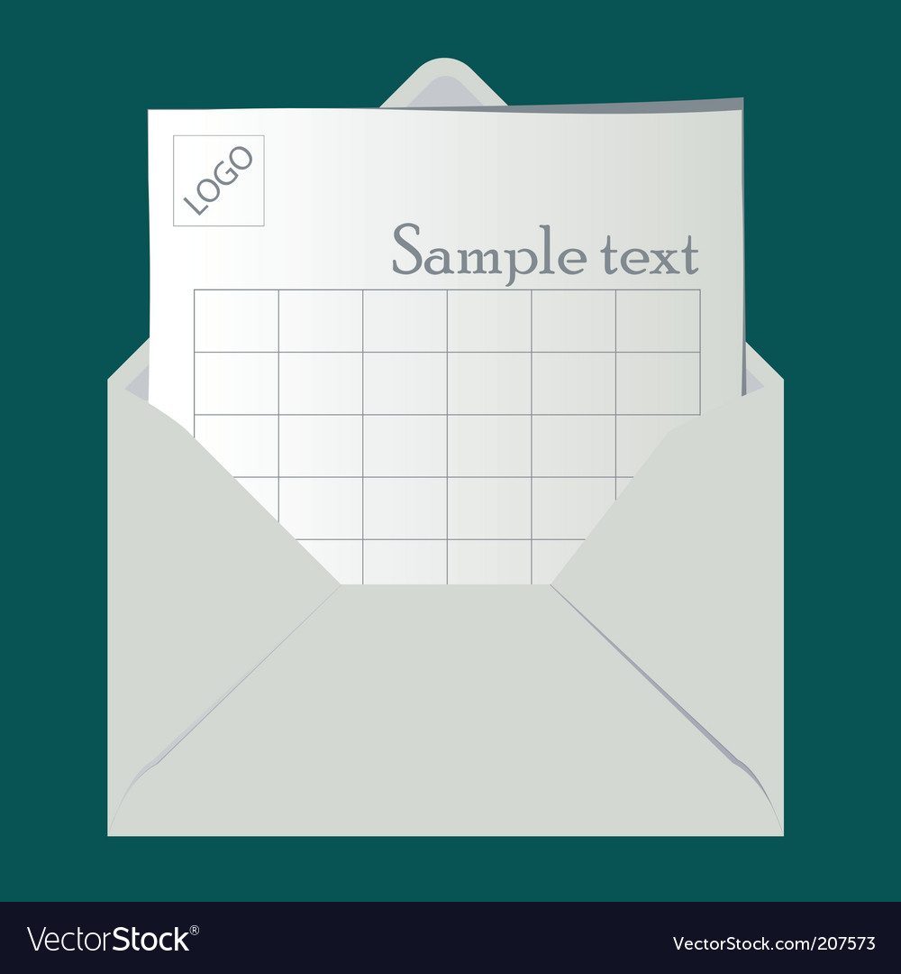 Open envelope vector | Price: 1 Credit (USD $1)