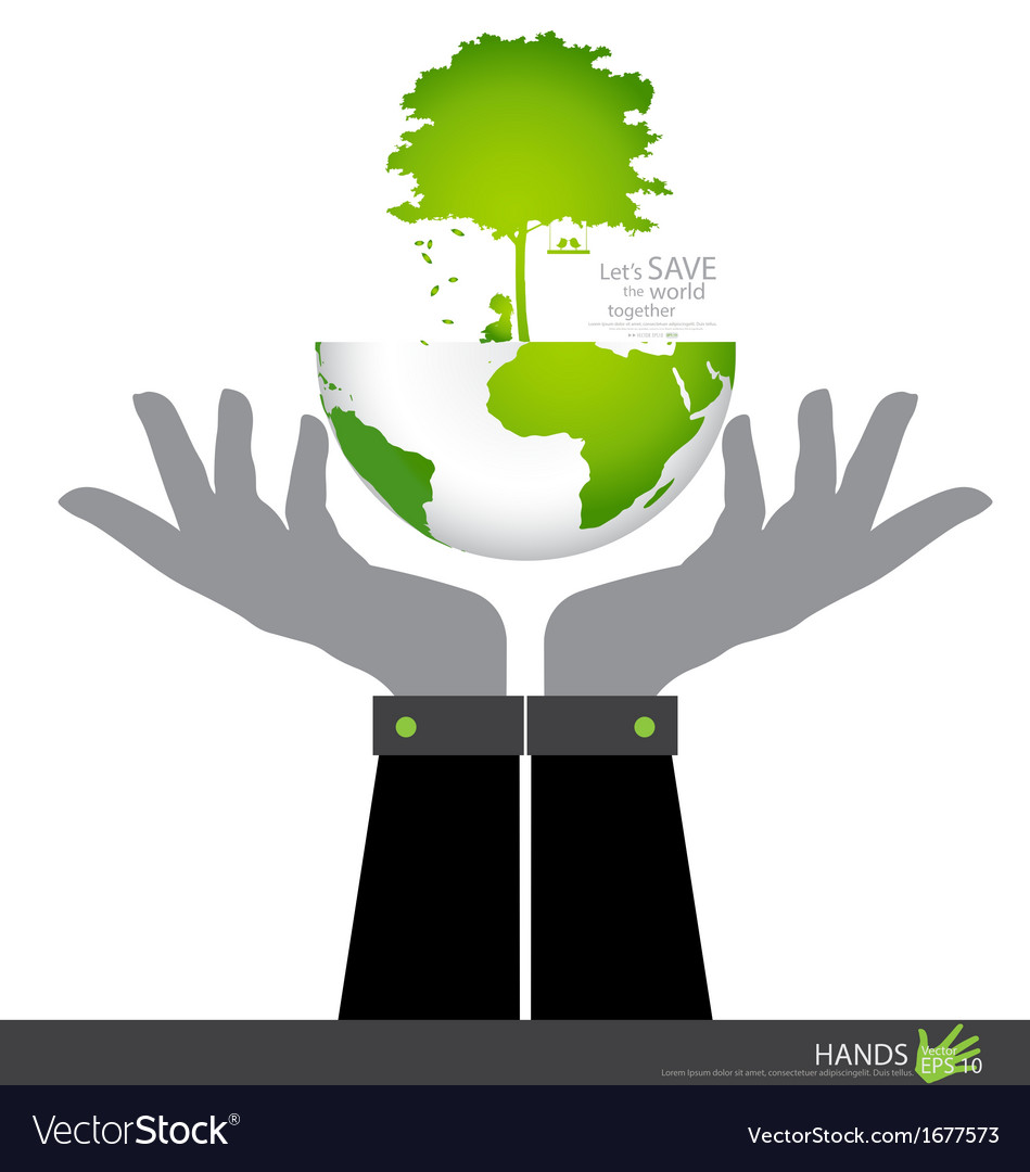 Save the world tree on a deforested globe and vector | Price: 1 Credit (USD $1)
