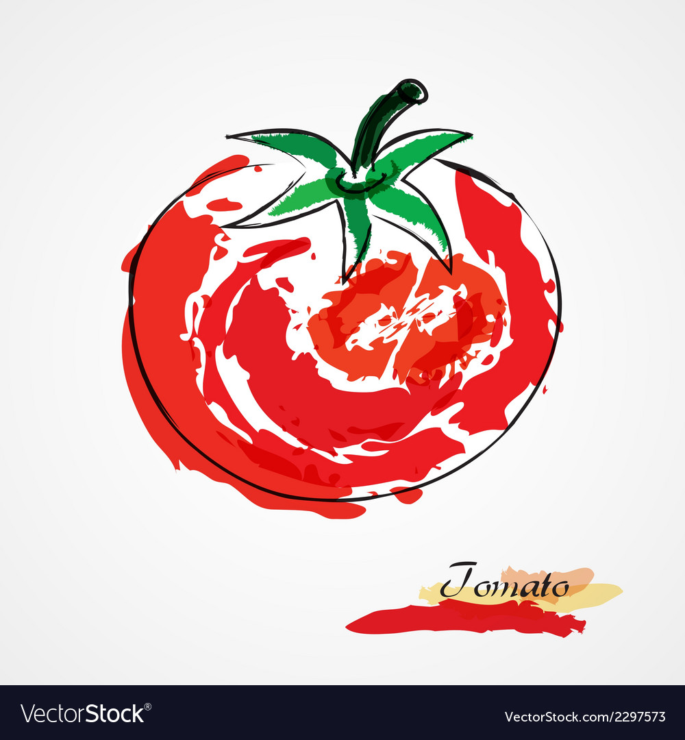 Tomato vector | Price: 1 Credit (USD $1)