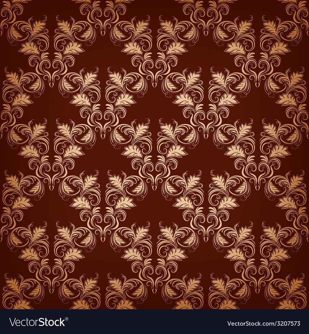 Vintage damask seamless vector | Price: 1 Credit (USD $1)