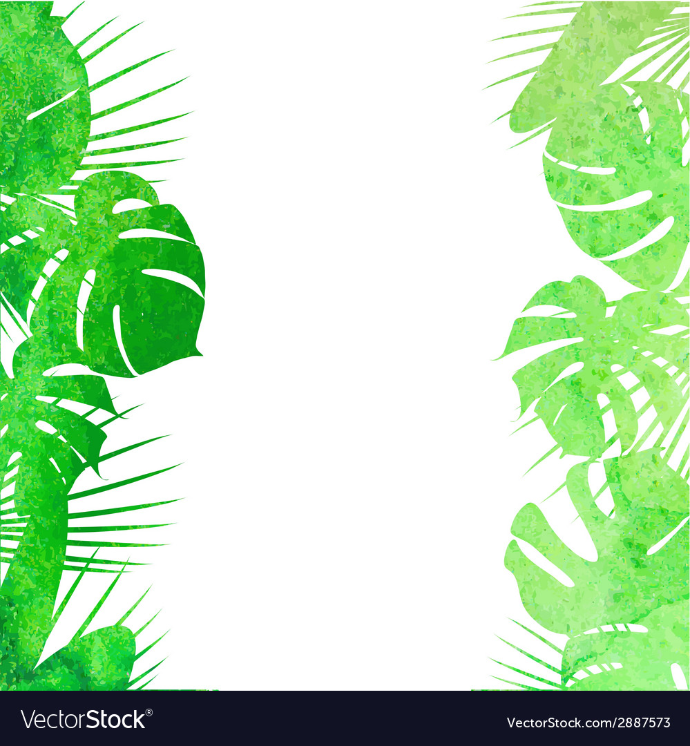 Watercolor tropical leaves vector | Price: 1 Credit (USD $1)