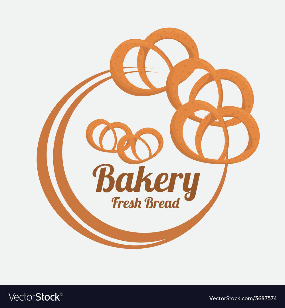 Bakery design over gray background vector | Price: 1 Credit (USD $1)