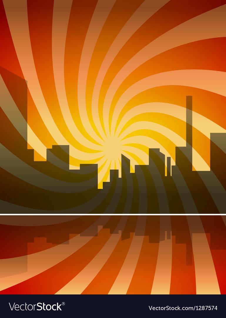 City panorama vector | Price: 1 Credit (USD $1)