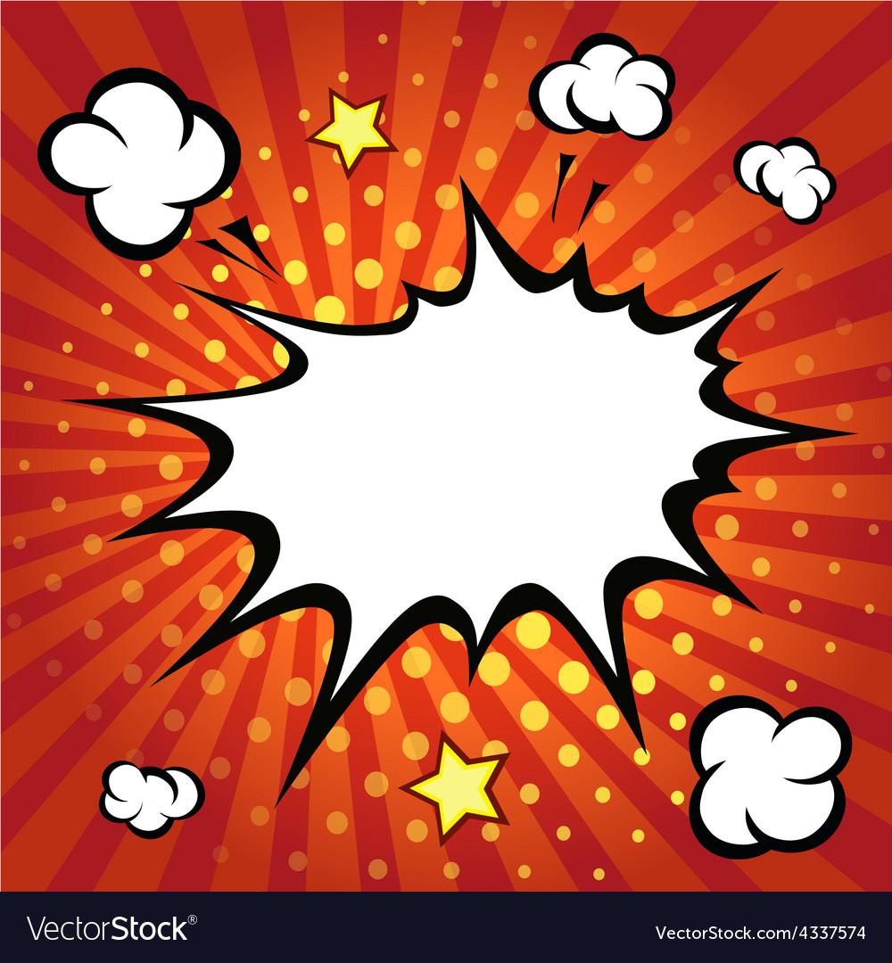 Comic speech bubble comic backgound vector | Price: 1 Credit (USD $1)