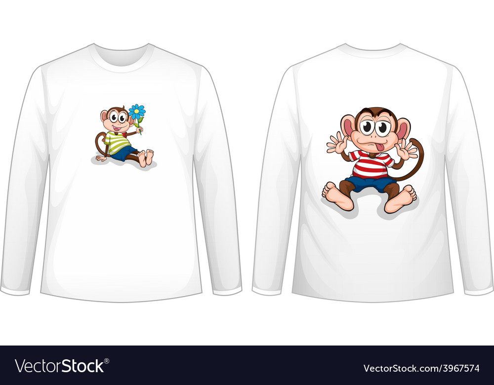 Monkey t-shirt vector | Price: 1 Credit (USD $1)