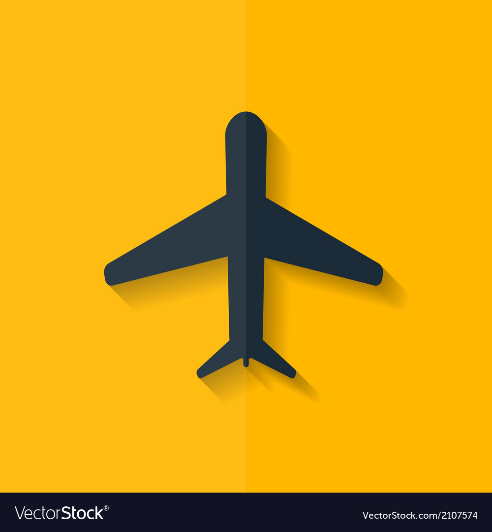 Plane airplane icon flat design vector | Price: 1 Credit (USD $1)
