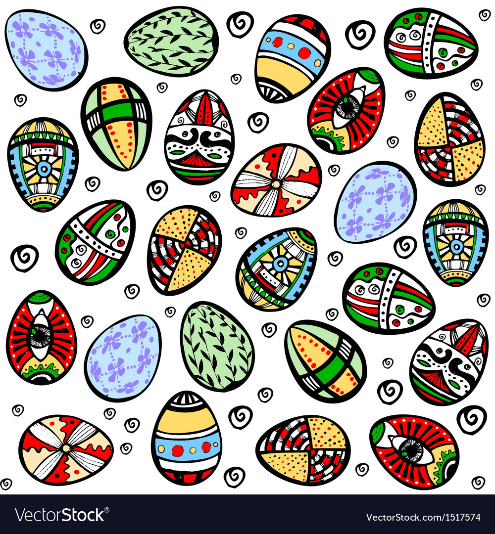 Seamless easter holiday background vector | Price: 1 Credit (USD $1)