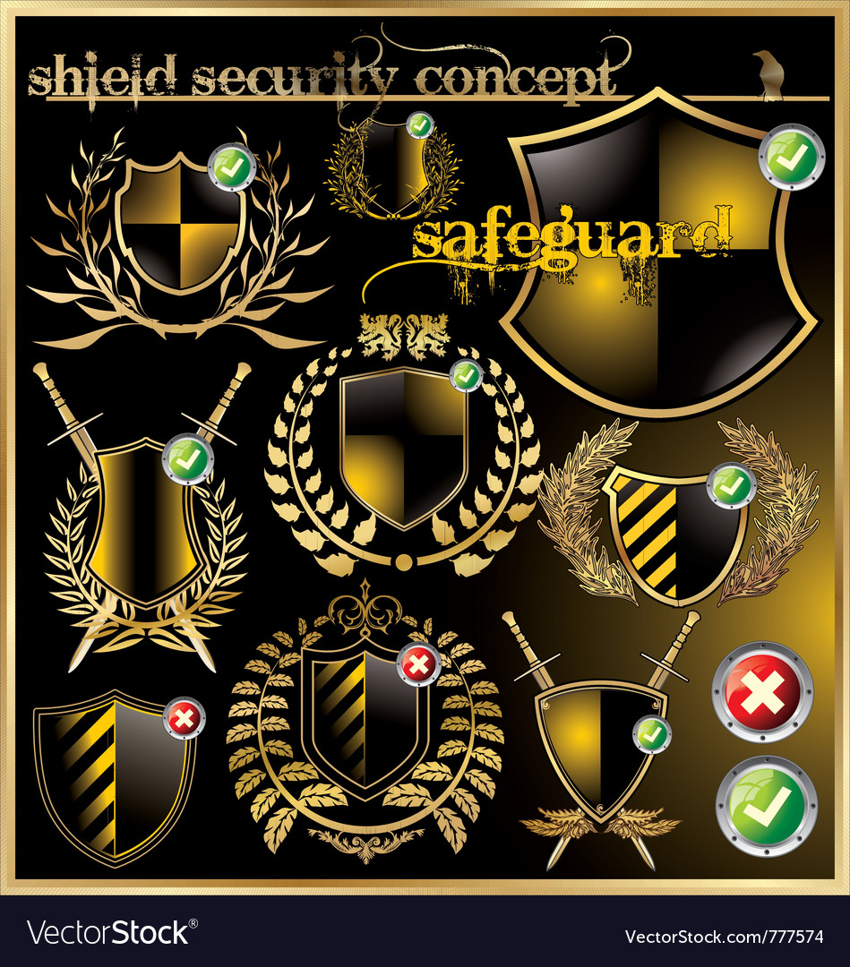 Shield security concept vector | Price: 3 Credit (USD $3)