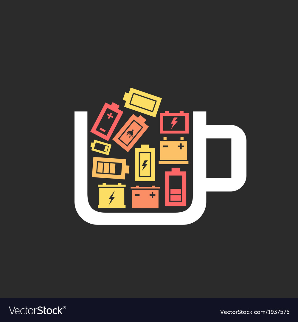 Battery a cup vector | Price: 1 Credit (USD $1)