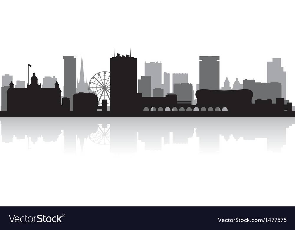 Birmingham city skyline silhouette vector | Price: 1 Credit (USD $1)