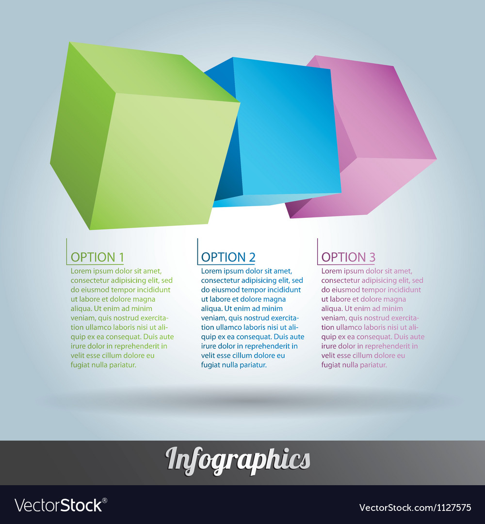 Cube infographics vector | Price: 1 Credit (USD $1)