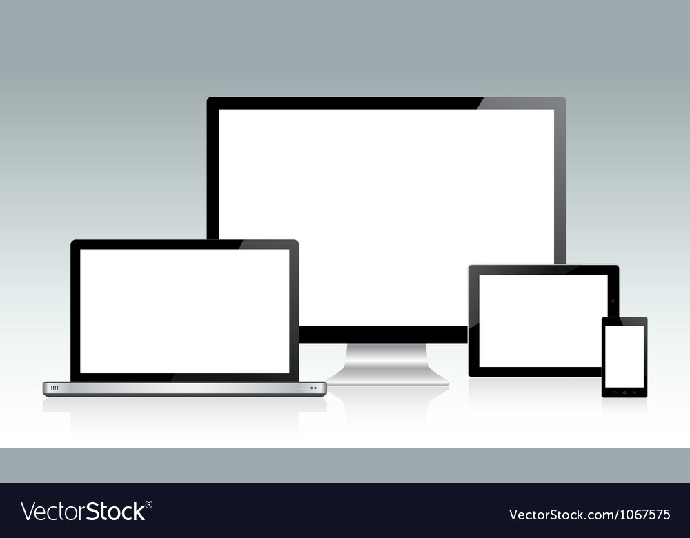 Device set vector | Price: 1 Credit (USD $1)