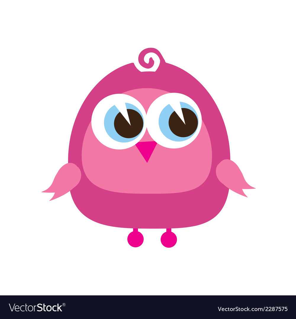 Drawing of a cute cartoon bird standing vector | Price: 1 Credit (USD $1)