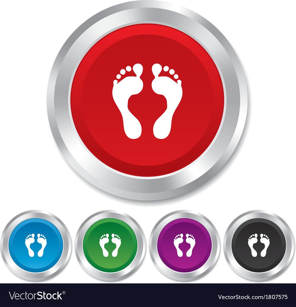 Human footprint sign icon barefoot symbol vector | Price: 1 Credit (USD $1)