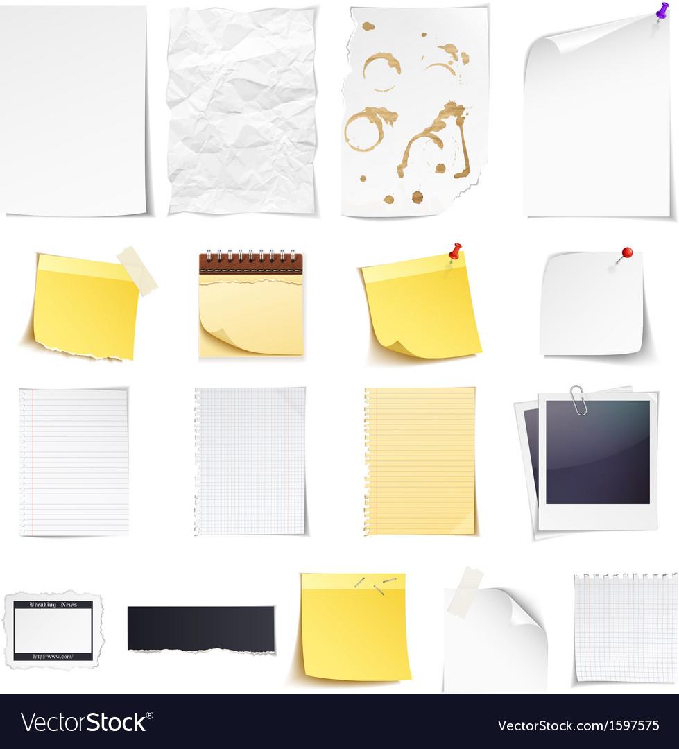 Paper set vector | Price: 1 Credit (USD $1)