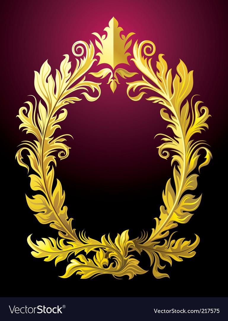 Rococo frame vector | Price: 3 Credit (USD $3)