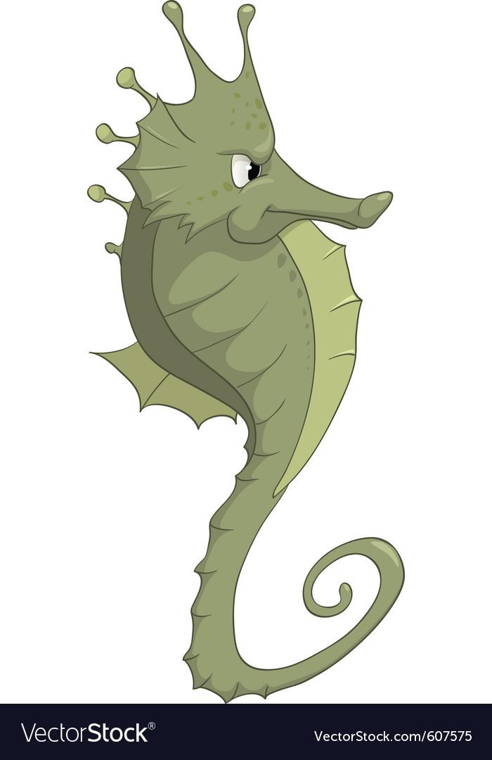 Seahorse cartoon vector | Price: 3 Credit (USD $3)