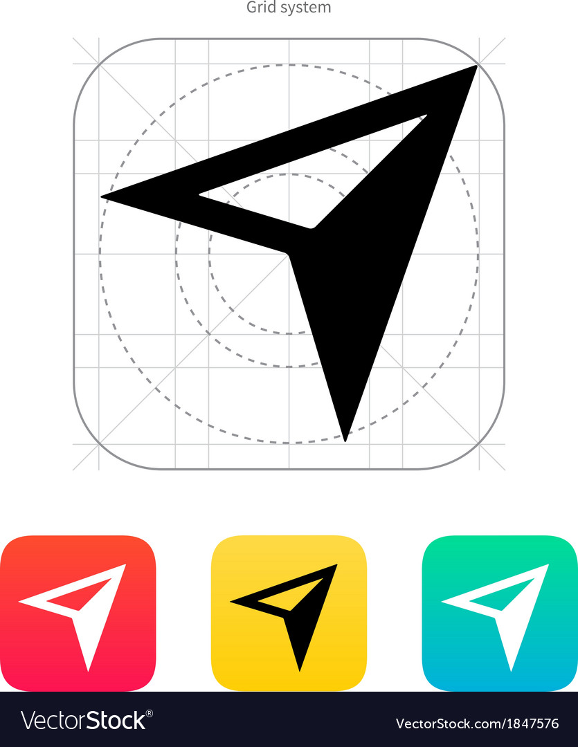Arrow navigator icon vector | Price: 1 Credit (USD $1)