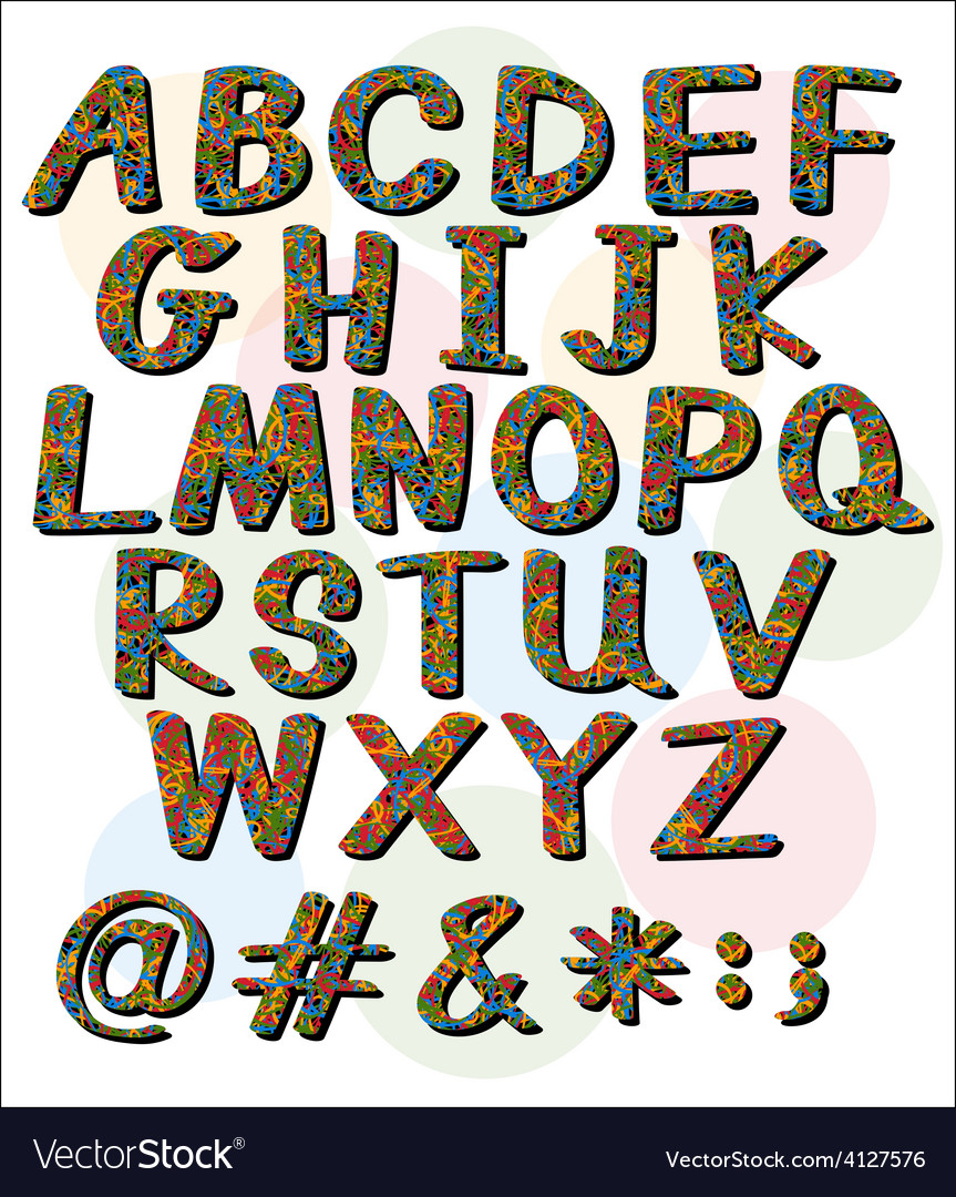 Big letters of the alphabet vector   Price: 1 Credit (USD $1)