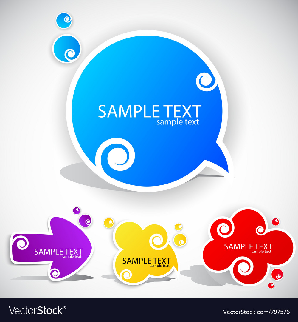 Colorful paper bubble for speech vector | Price: 1 Credit (USD $1)