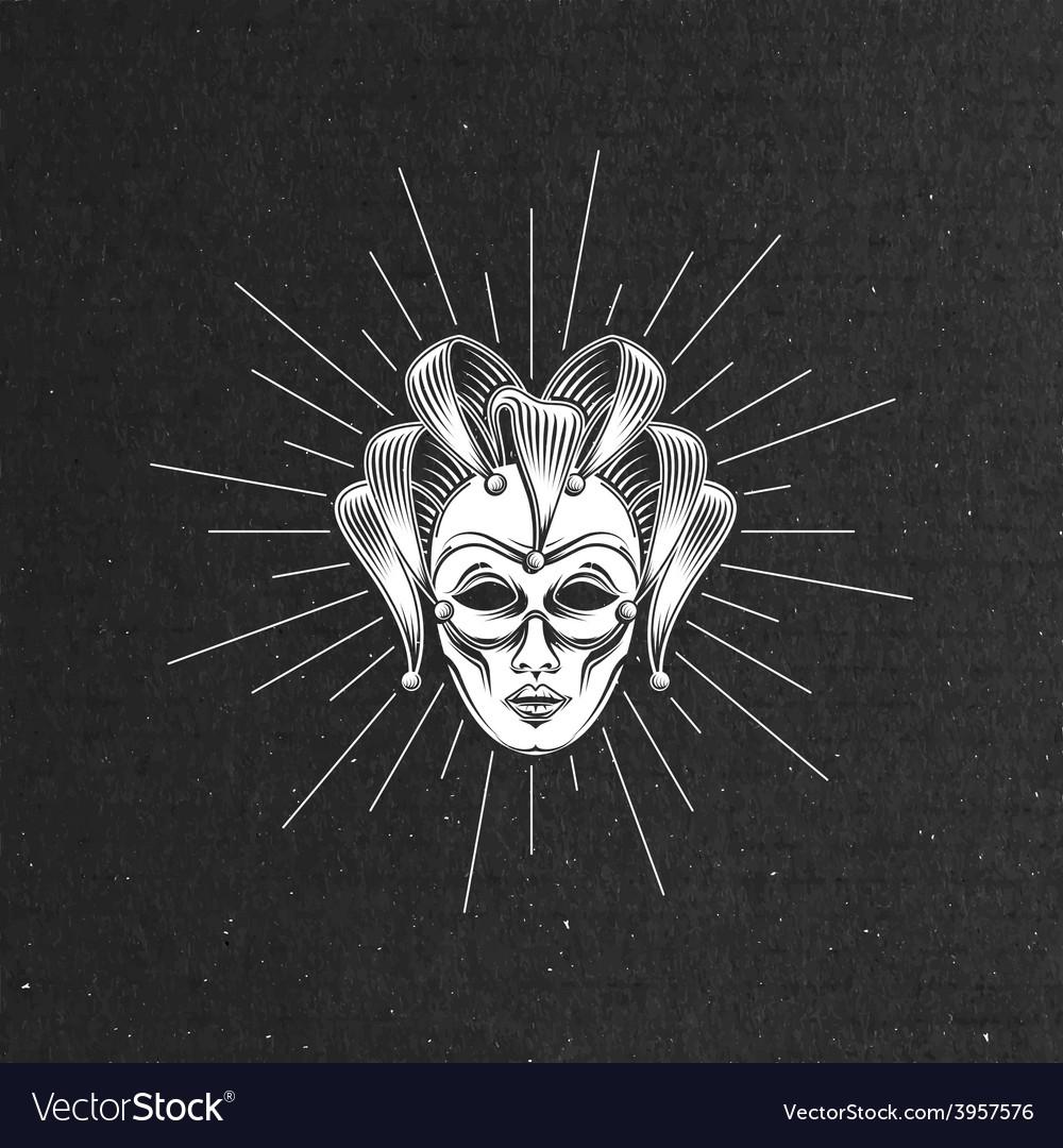Engraving venetian carnival mask vector | Price: 1 Credit (USD $1)