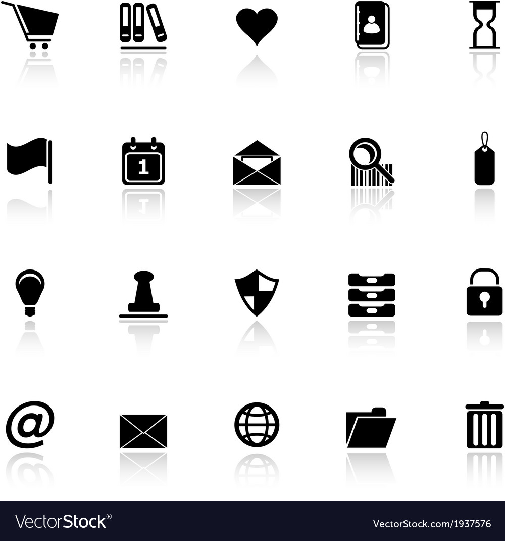 General folder icons with reflect on white vector | Price: 1 Credit (USD $1)