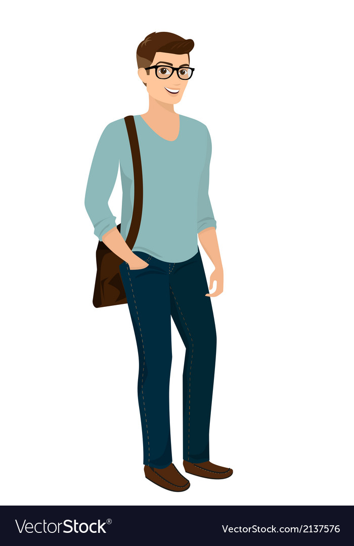 Handsome stylish men casual fashion vector | Price: 1 Credit (USD $1)