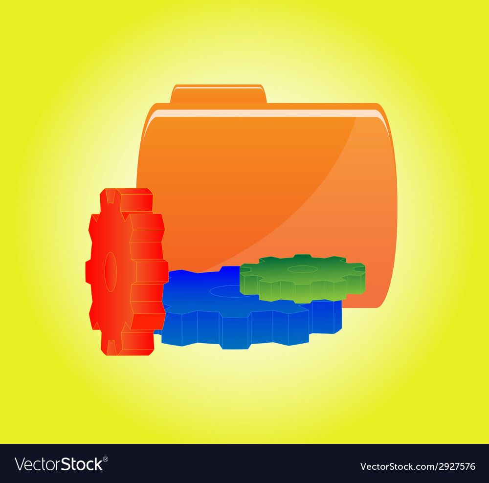 Orange folder icon vector | Price: 1 Credit (USD $1)
