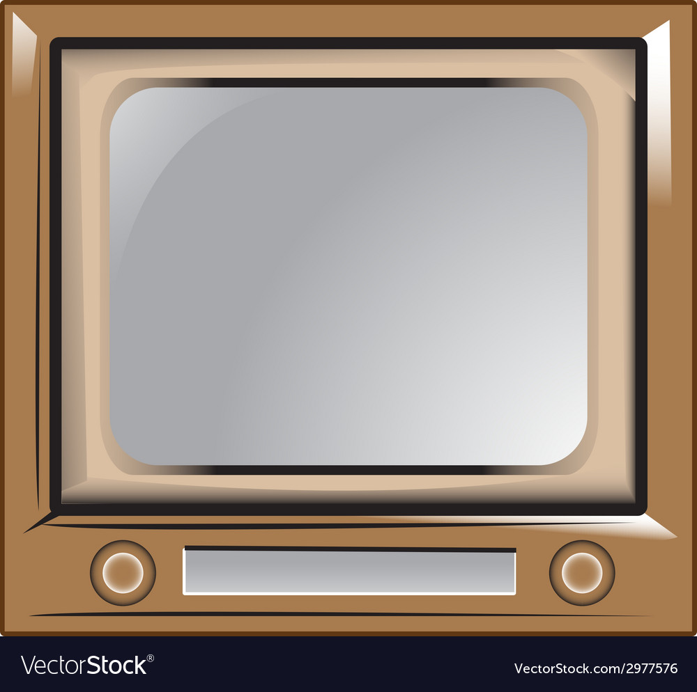 Retro vintage old television vector | Price: 1 Credit (USD $1)