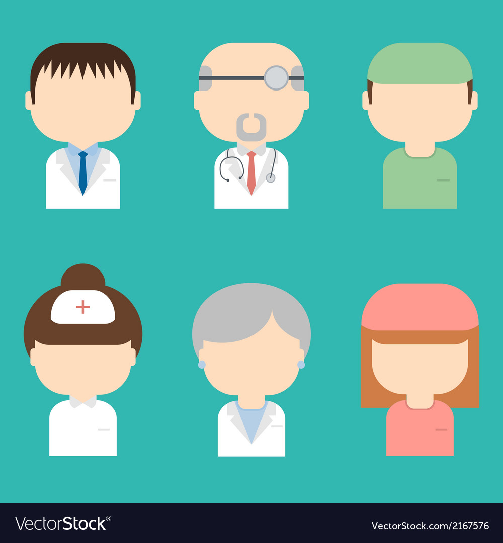 Set of doctors icons vector | Price: 1 Credit (USD $1)