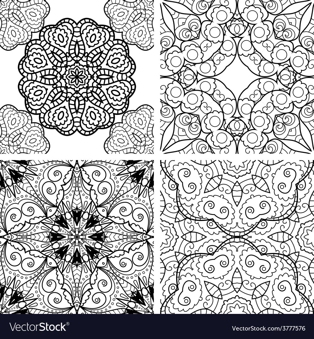 Set of patterns with circle ornament vector | Price: 1 Credit (USD $1)