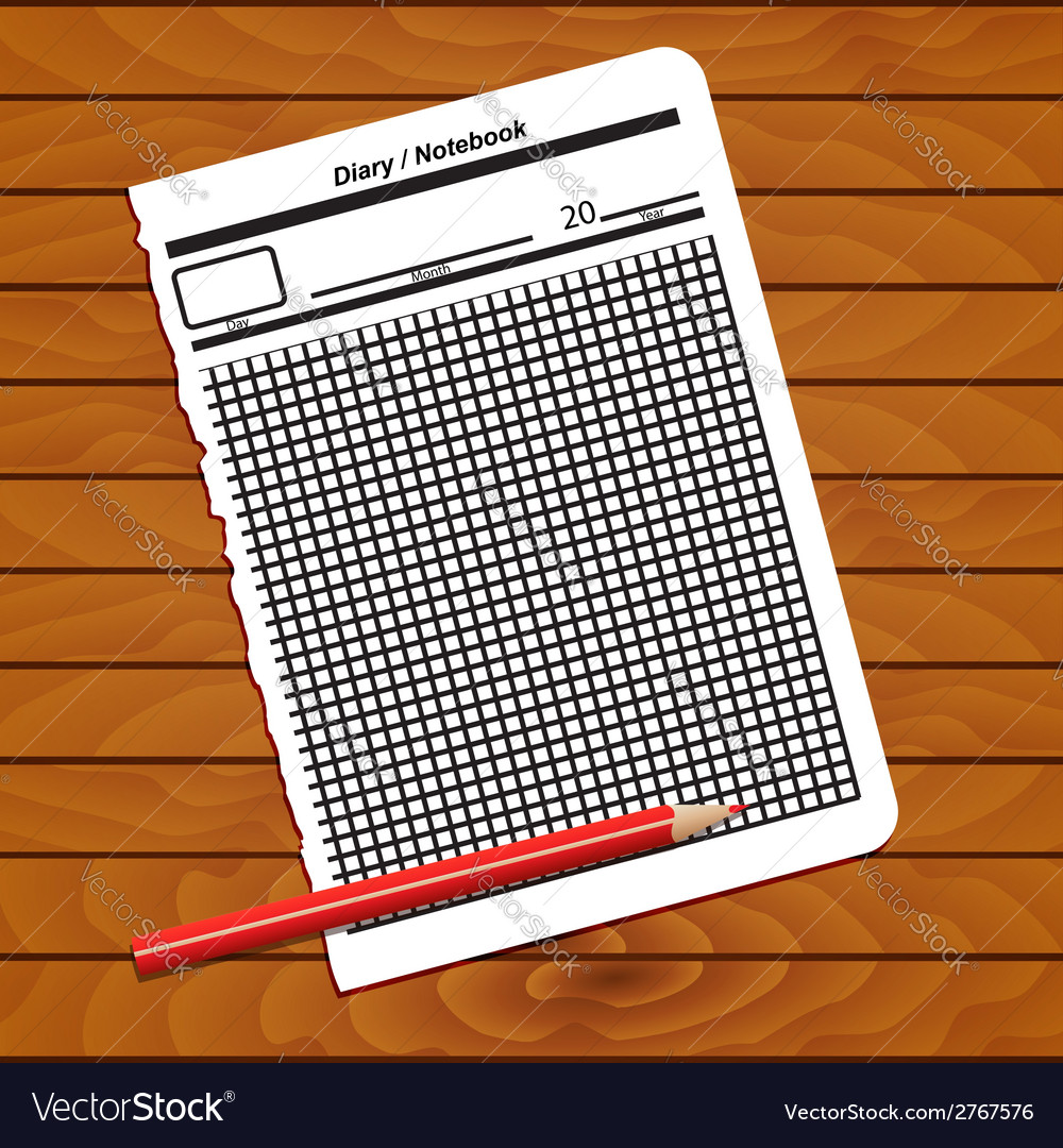 Sheet of notepad vector | Price: 1 Credit (USD $1)