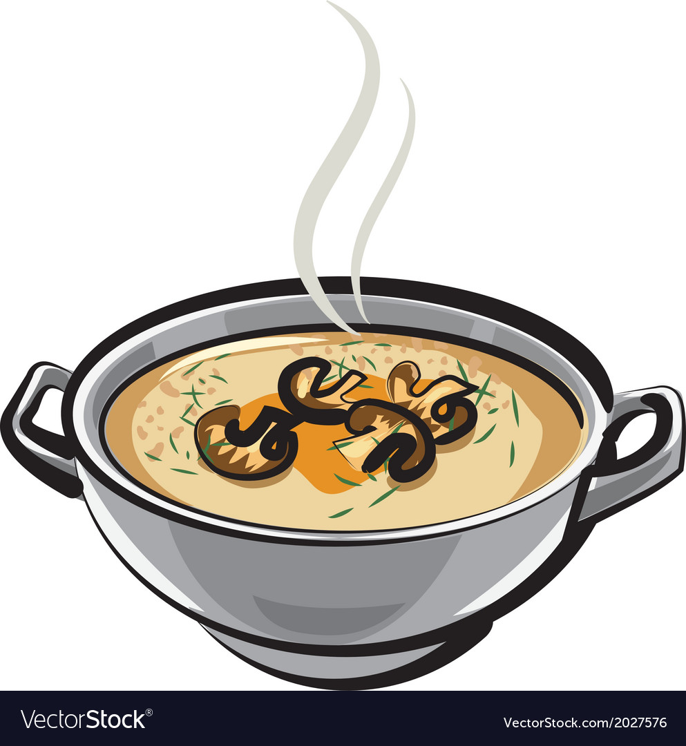 Soup with mushrums vector | Price: 1 Credit (USD $1)