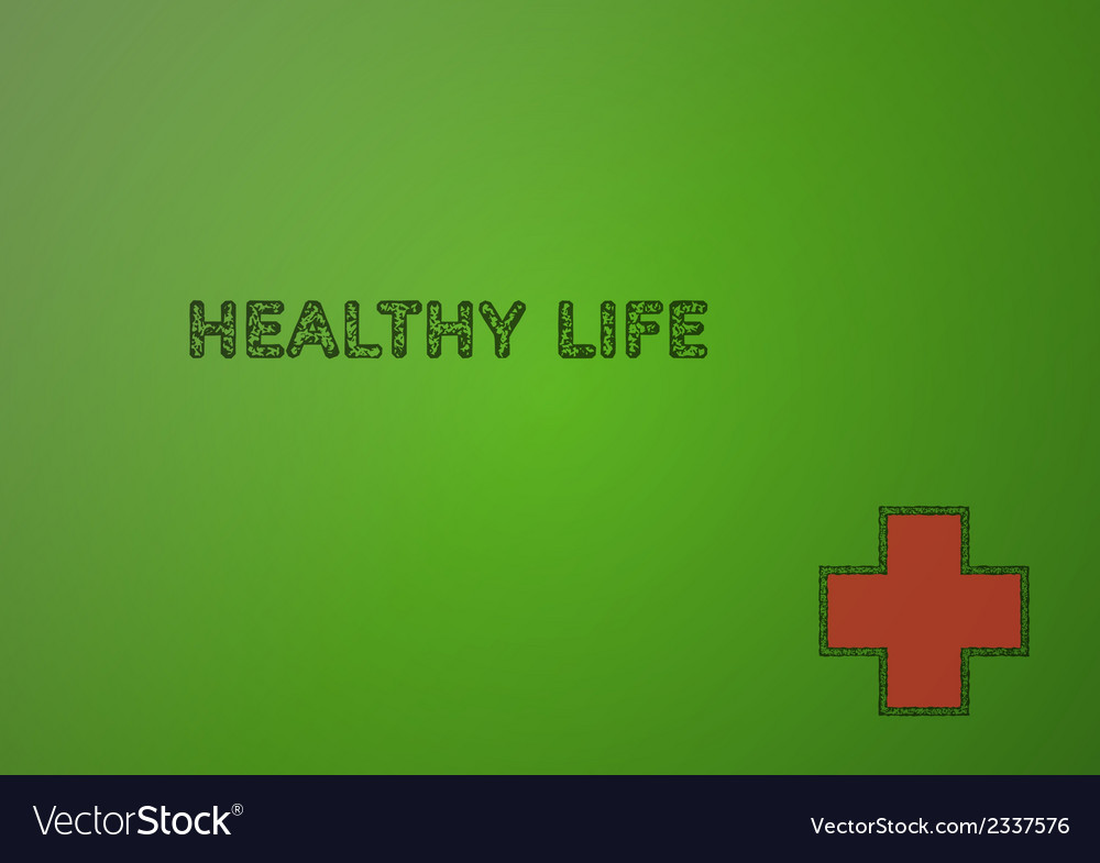 Stamp with healthy life vector | Price: 1 Credit (USD $1)