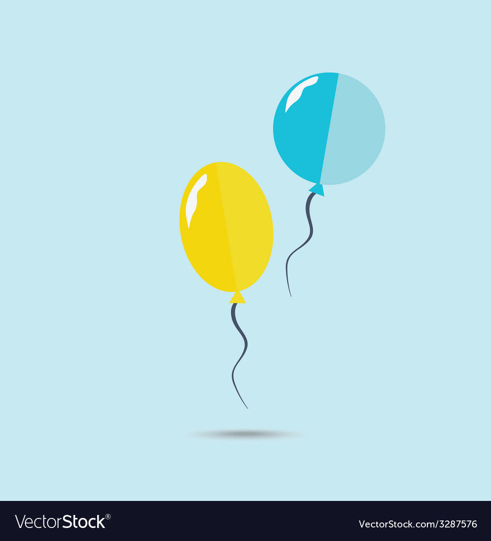 Yellow and blue ballons vector | Price: 1 Credit (USD $1)