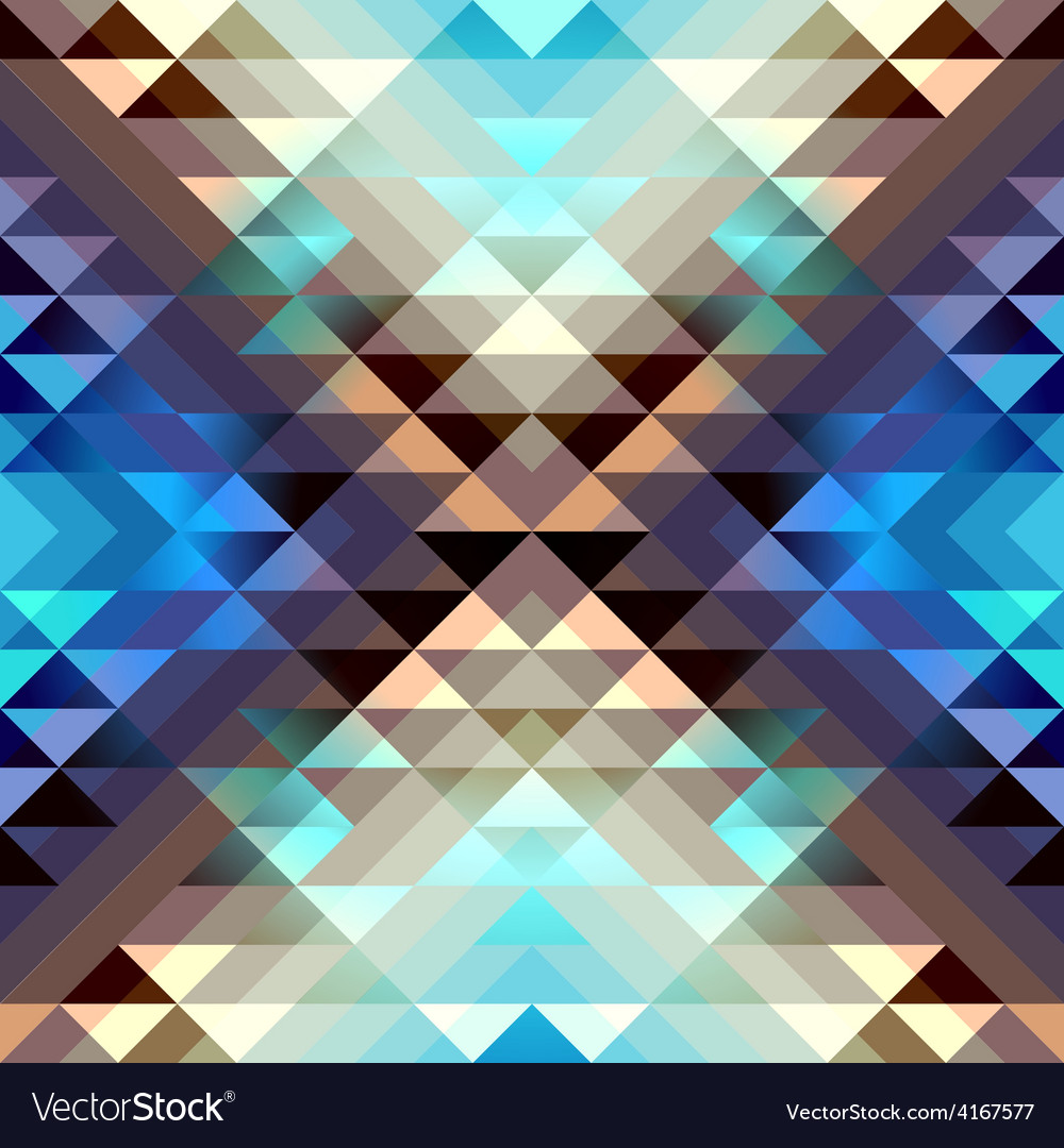 Blue aztecs pattern vector | Price: 1 Credit (USD $1)