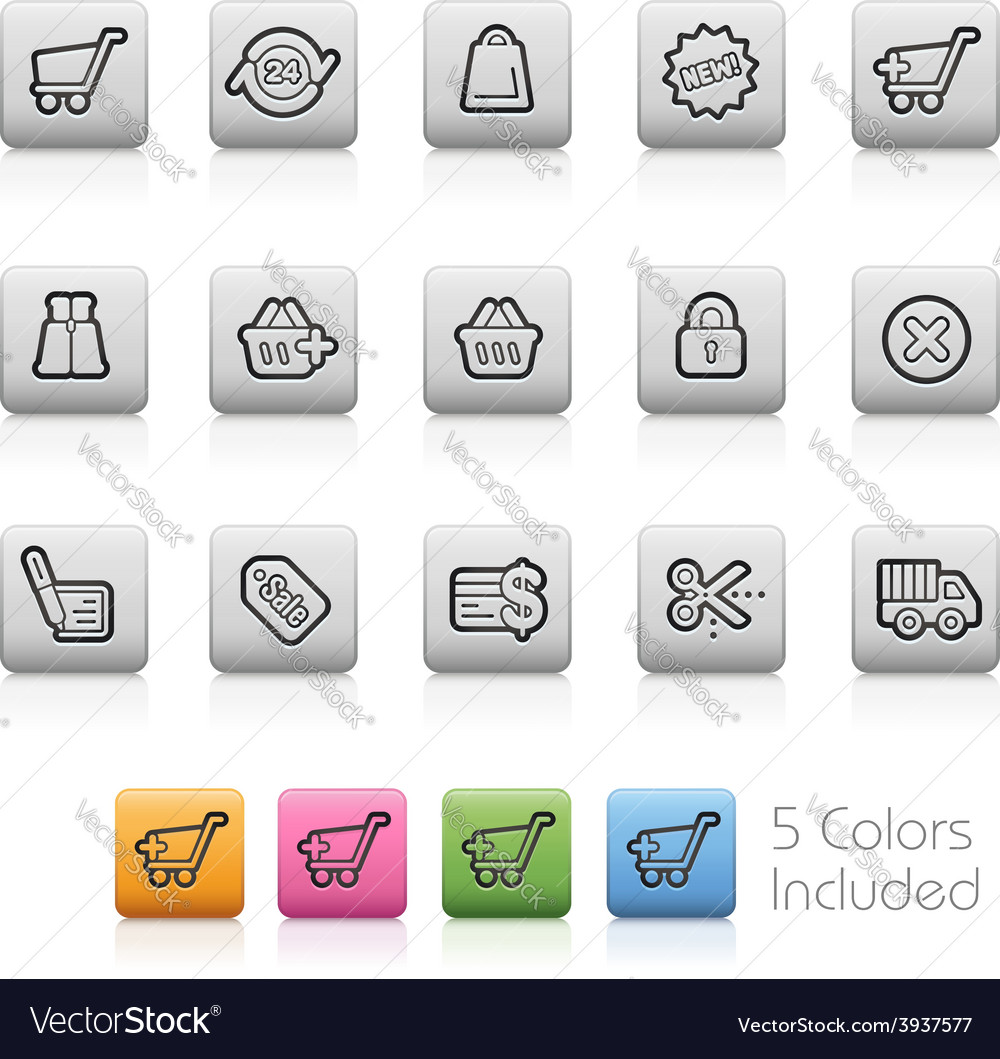 E-shopping buttons vector | Price: 1 Credit (USD $1)