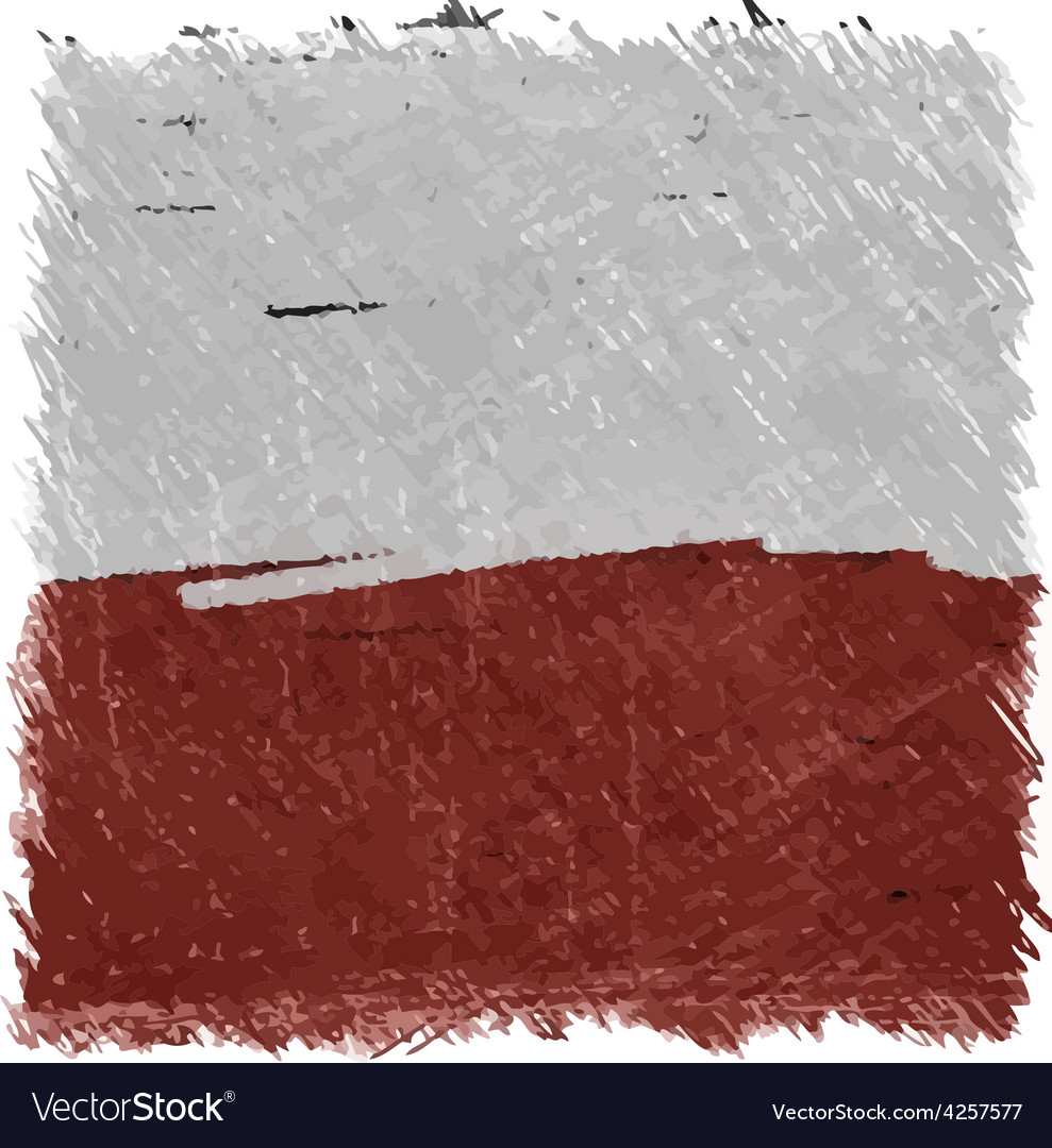 Flag of poland handmade square shape vector | Price: 1 Credit (USD $1)